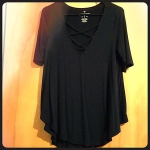 AEO soft and sexy strappy short sleeve top